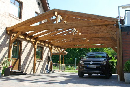 carport mit satteldach freistehend aus holz online bestellen. Black Bedroom Furniture Sets. Home Design Ideas